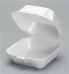 Foam Sandwich Container White - 6 in.