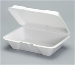 Large Deep All Purpose Foam Hinged Container - 9.19 in. x 6.5 in. x 2.87 in.