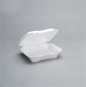 Snap-It Foam Large One Compartment Container White