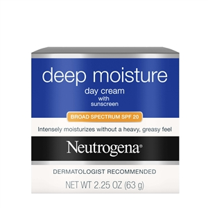 Neutrogena Moisturizer Deep Moisture Day Cream Spf 20 - 2.25 Oz.