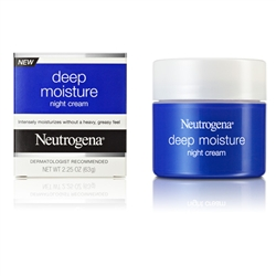 Neutrogena Moisturizer Deep Moisture Night Cream - 2.25 Oz.