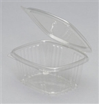 Hinged Deli Plastic Clear Container - 16 Oz.