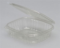 Hinged Deli Plastic Clear Container - 24 Oz.