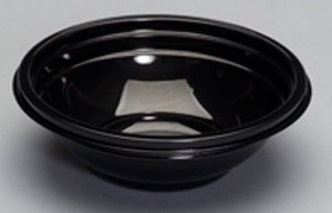 Black Plastic Bowl - 12 oz.
