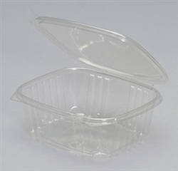 Hinged Deli Plastic Clear Container - 32 Oz.