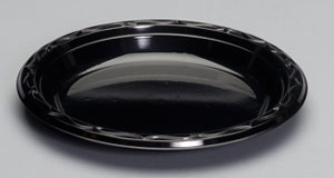 Plastic Plate Black - 9 in.