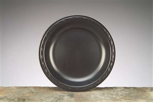 Laminated Foam Plate Black - 9 in.