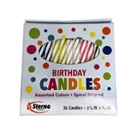 Spiral Stripe Birthday Candle