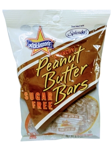 Sugar Free Peanut Butter Bars Peg Bags Candy - 3.75 Oz.