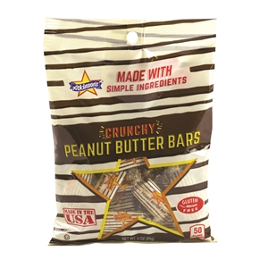 Peanut Butter Bar Peg Bag Candy - 3 Oz.