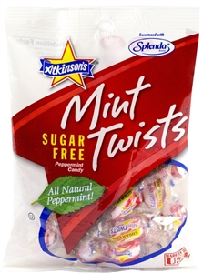Mini Twists Peg Bag Sugar Free Candy - 3.75 Oz.