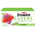 Layers Watermelon Tropical Fruit Gum