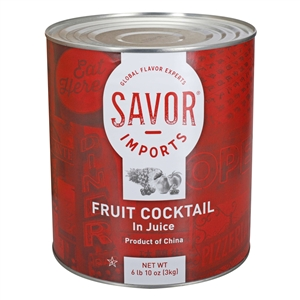 Savor Fruit Cocktail In Juice