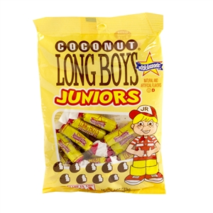 Long Boys Junior Coconut Peg Bag Candy