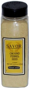 Savor Fennel Seed Ground - 15.5 Oz.