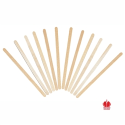 Wooden Coffee Stirrer Round Ends - 5.5 in.
