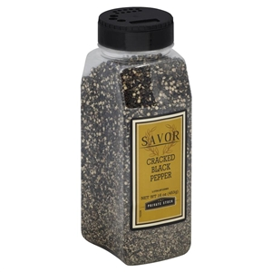 Savor Brand Pepper Black Cracked - 16 Oz.