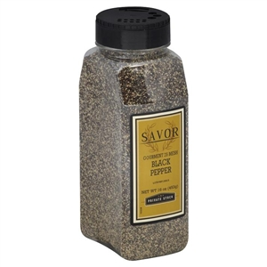 Savor Brand Pepper Black Gourmet 25 Mesh - 16 Oz.