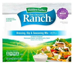 Original Ranch Dry Dressing Mix Institutional Milk Based - 8 Oz.