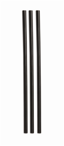 Jumbo Unwrapped Straw Ebony - 7.75 in.