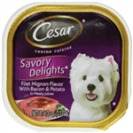 Cesar Canine Cuisine Filet Mignon Flavor with Bacon and Potato - 3.5 oz.