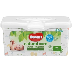 Huggies Natural Care Fragrance Free Baby Wipes Tub
