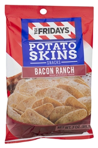 Tgi Fridays Potato Skins Bacon Ranch Chips - 3 Oz.