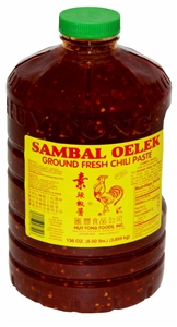 Ground Fresh Chili Sambal Oelek - 1 Gal.