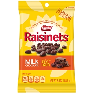 Nestle Raisinets Chocolate Candy Peg Pack - 5.5 Oz.