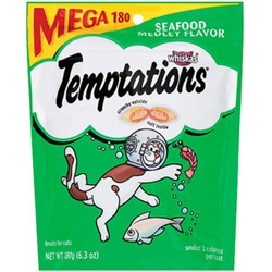 Whiskas Temptations Seafood Medley Mega Bag - 6.35 oz.