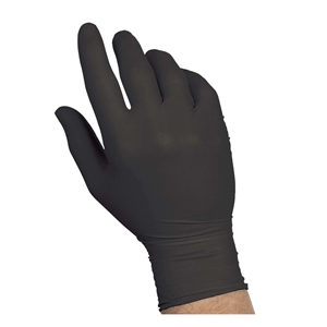 Black Nitrile Powder Free Extra Large Gloves