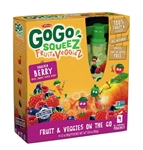 GoGo Squeez Fruit and Veggie Apple Carrot Mixed Berries