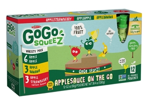 Gogo Squeez Variety Pack 12 Pouch