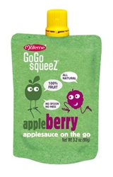 Gogo Squeez Apple Berry 12 Pouch - 3.2 oz.