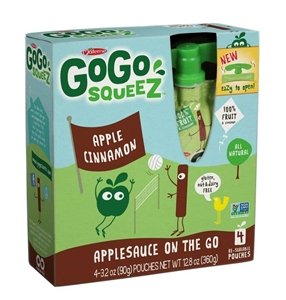 Gogo Squeez Apple Cinnamon - 3.2 oz.