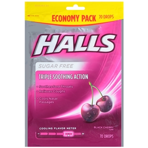 Halls Cough Drops Black Cherry Sugar Free