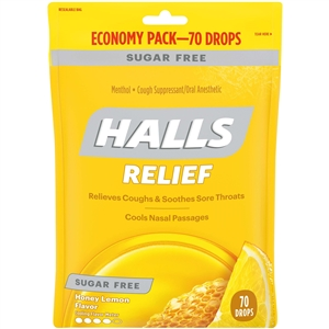 Halls Honey Lemon Flavor Sugar Free