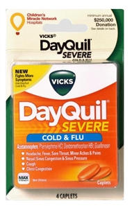 Dayquil Severe Cold and Flu Caplets 96 Boxes of 4 Tablets