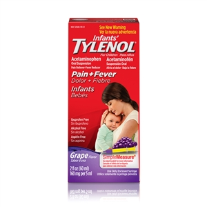 Infants Tylenol Suspension Grape - 2 Fl. Oz.
