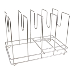 Chrome Plated Steel Rod Construction Pizza Screen Rack