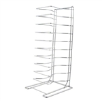 Chrome Plated Steel Construction 11 Shelves Holds Pans Pizza Screen Rack
