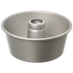 Anodized Aluminum Angel Food Cake Pan With Satin Finish - 10 in. x 4 in.
