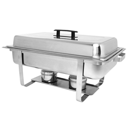 Ensemble Rectangular Stainless Steel Chafer - 8 Qt.