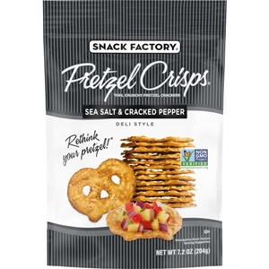 Pretzel Crisps Sea Salt and Cracked Pepper - 7.2 oz.