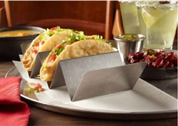 Taco Holders 2 or 3 Compartments Stainless Steel - 4 in. X 8 in. X 2 in.