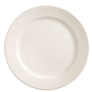 Medium Rim Bright White Tenacity Plate - 6.25 in.