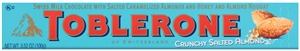 Toblerone Chocolate Bar Almond With Sea Salt - 3.52 oz.