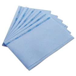 Microban Medium Duty Blue with Blue Print Foodservice Towel - 13 in. x 21 in.