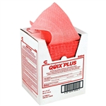 Quix Plus Sanitizing and Cleaning Multi Fold Pink Towel - 20 in. x 13.5 in.