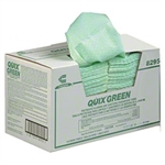 Quix Plus Sanitizing and Cleaning Multi Fold Green Towel - 20 in. x 13.5 in.